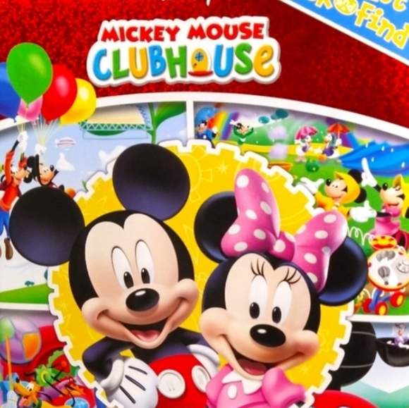 🔥4/$25 Look and Find Mickey Mouse Clubhouse Book